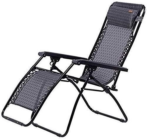 QYYzdy Hochklappbare Sonnenliege, Outdoor-Bett mit Abnehmbarer Kopfstütze für Urlaub, Angeln, Lounge, Terrasse, Liege