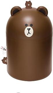 Line Friends Cute Trash Mini Bin Gift Child Girl Baby Can (Brown) by Line Friends