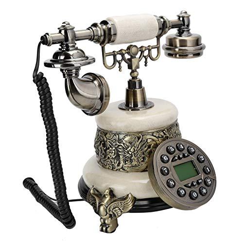 LDDZB MS? 2200D Teléfono Antiguo, Teléfono Vintage Digital Fijo, Teléfono Fijo Retro Europeo clásico con Cable con retroiluminación, teléfono Retro para Hotel, hogar