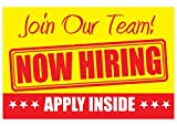 NOW HIRING Apply Inside Sign – PVC size...