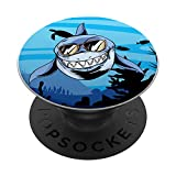 Funny Ocean Animal Predator Sea Monster Gafas de sol Shark PopSockets PopGrip Intercambiable