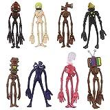 MiniRebecca Juguete de Cabeza de Sirena, Figura de Animal de Dibujos Animados, Juguete de Cabeza, Modelo de Terror, Escultura de muñeca, 8 Piezas, Juego de Juguetes, Regalo para niños