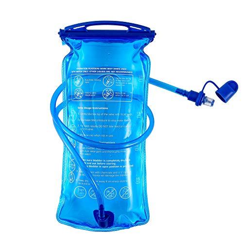 Bolsa de hidratación, 3 L, 2 L, 1,5 L, bolsa de agua sin BPA, depósito de agua de 3 litros de apertura grande, a prueba de fugas, bolsa de almacenamiento de agua militar para ciclismo