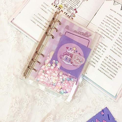 WSKL Kawaii A6 Cuaderno en Espiral de Hojas Sueltas, Diario, Agenda, planificador, papelería Escolar, Juego de Regalo, Bala