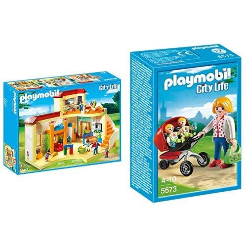 Playmobil 5567 - Kita Sonnenschein &  5573 - Zwillingskinderwagen