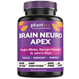 Nootropic Brain Supplement for Focus, Energy, Memory & Clarity Booster | Fast Absorption Brain Vitamins for Adults – Nootropics Pills with Ginkgo Biloba, St Johns Wort, Bacopa Monnieri