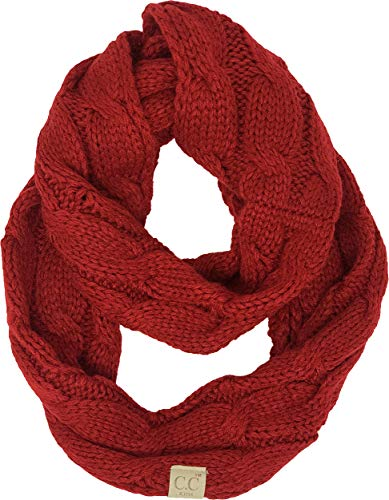 Kids Infinity Scarf - Solid Red