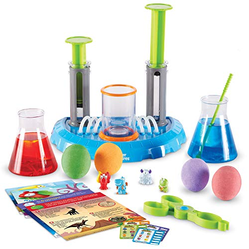 Learning Resources Beaker Creatures Deluxe Liquid Reactor Super Lab, 21 Piece Set with 4 Creatures, STEM Science Toy, Ages 5+, Multicolor (LSP8586-AMZ)