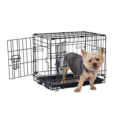 "Animaze 2-Door Folding Dog Crate, 18.5"" L x 12.2"" W x 14.5"" H, X-Small, Black Basic Crates"
