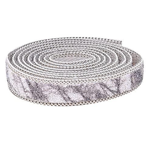 Wosune Hierro en Cadena de Diamantes de imitación, Cadena de Diamantes de imitación Accesorios de Ropa exquisitos para Vestido de Novia para Sombrero cinturón para Bolsa de Zapatos(Grey)