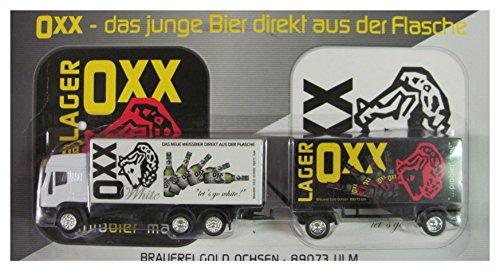 Gold Ochsen Nr.05 - Oxx White & Oxx Lager - Oxx das Junge Bier direkt aus der Flasche - Iveco - Hängerzug