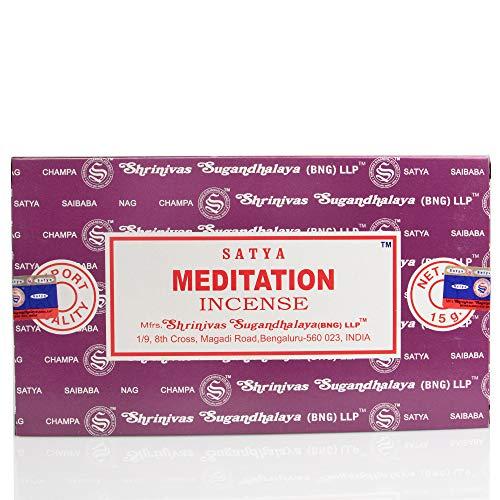 Satya Incense Sticks Meditation Incense Sticks 12 x 15 grams 180Grams