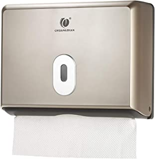 Anself CHUANGDIAN Wall-Mounted Bathroom Tissue Dispenser Tissue Box Holder for Multifold Paper Towels