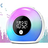 Product Image of the Wake Up Light Alarm Clock with Bluetooth Speaker Uplayteck, Kids Night Light...