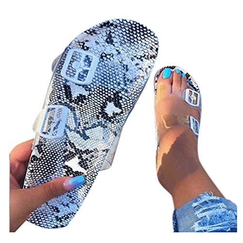 Sandals for Women Wide Width,Women's 2020 Crystal Comfy Platform Sandal Shoes Summer Beach Travel Fashion Slipper Flip Flops