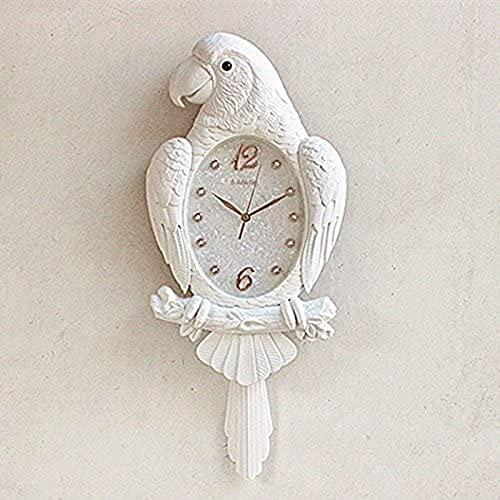 Modern Wall Reloj Oficina Decoración Hogar Relojes Parrot Mute Minimalista Personalidad Creativa Cuarzo Bird Swing, 73X32Cm