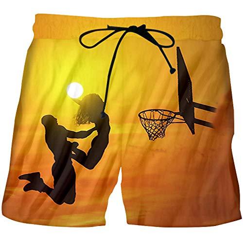 Kurze Hosen Herren Shorts Plus Size Womens Männer 3D Printed Shorts Basketball Shorts Für Hip Hop Shorts-Yellow_XXL