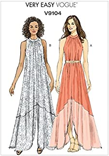 Vogue Ladies Easy Sewing Pattern 9104 Very Loose Fitting Maxi Dresses