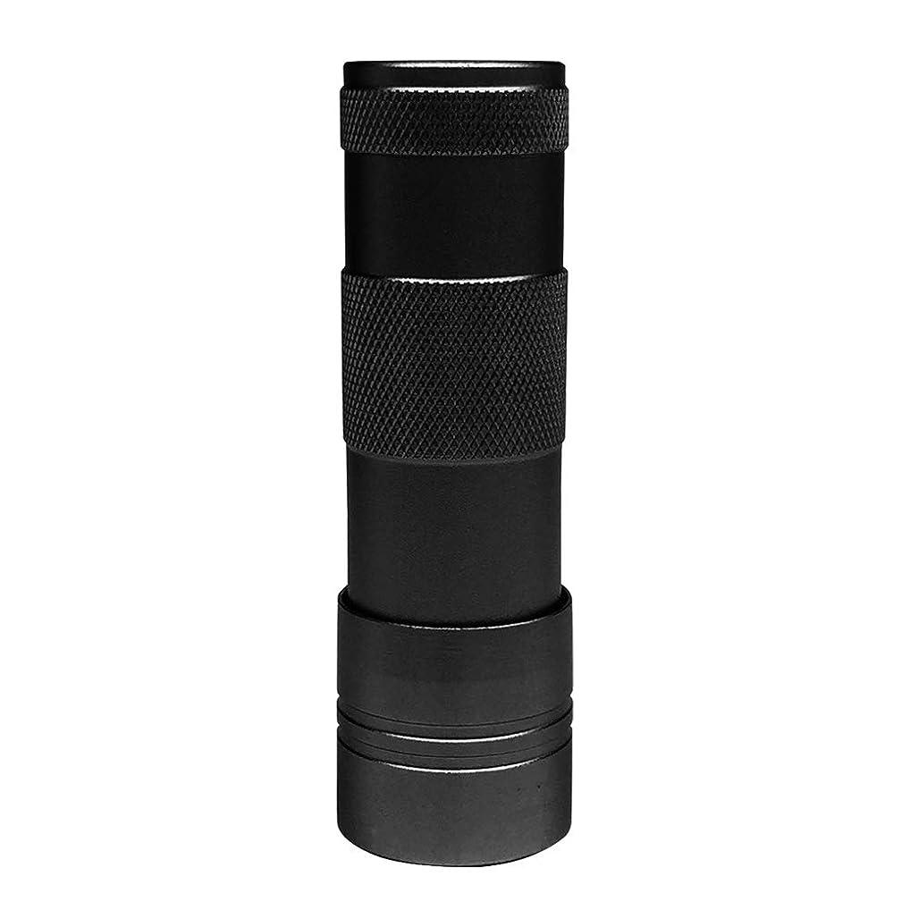 会話推定ナイトスポットLEDハンドライト(12灯)ペン型?ハンディ型 ジェルネイル (ブラック)