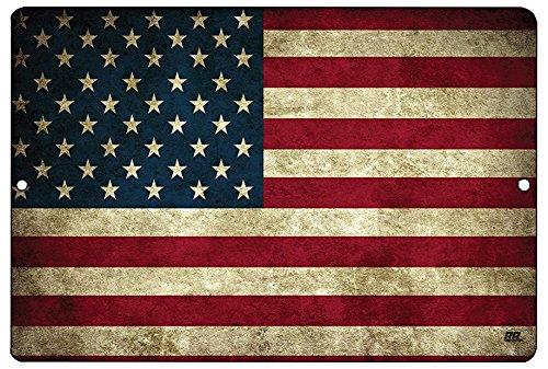 USA American Flag Metal Tin Sign Wall Decor Man Cave Bar US United States Rustic