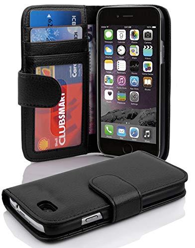 Cadorabo Funda Libro para Apple iPhone 6 / iPhone 6S en Negro ÓXIDO - Cubierta Proteccíon con Cierre Magnético e 3 Tarjeteros - Etui Case Cover Carcasa