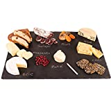 Extra Large Cheese Slate Platter Board 14x20 with Soapstone Chalk