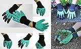 takestop® Guanti da Giardino Genie Gloves Garden Artigli RIGIDI Unghie Uncini per Scavare BUCHE Terreno Giardinaggio