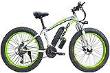 ZJZ Las bicis eléctricas de Las bicis eléctricas de 26 Pulgadas, Viaje de Ciclo al Aire Libre 48V / 1000W Hacen Ejercicio al Adulto