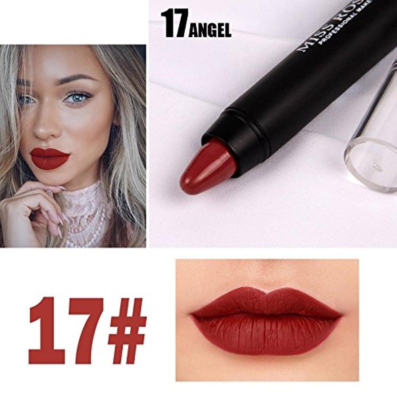 上に築きます楕円形薄いですMISS ROSE Professional Women Waterproof Lipstick Lips Cream Beauty Lote Batom Matte Lipstick Nude Pencils Makeup