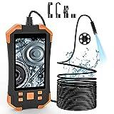 Endoscopio Industrial, Pantalla LCD de 4.3 Pulgadas IP67 Boroscopio Impermeable, cámara de inspección de Video de batería Recargable de 3000mAh con 6 Luces LED Ajustables