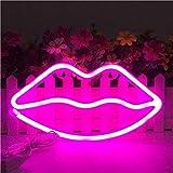 Neon Zeichen geformte Lippen führten Neonlicht-Kunst-dekorative Licht-Wand-Dekor für...