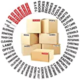 """720 Color Coded Moving Labels with Customizable Blank Sticker,Good Helper for Moving House(Each Measures 3.8"""" x 1"""")"""