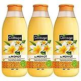 Cottage Douche Huile Extra Nourrissante au Monoï Peaux Sèches/Sensibles 97% d'Ingrédients d'Origine Naturelle - LOT DE 3 * 560ML