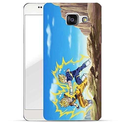 Finoo Hülle für Samsung Galaxy A5 2016 - Dragonball Handyhülle mit Motiv und Optimalen Schutz Tasche Case Hardcase Cover Schutzhülle - Goku vs Majin Vegeta