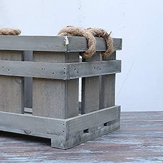 ALANBELL Solid Wood Storage Box Multi-Functional Rectangular Retro Storage Box Retro Antique Box
