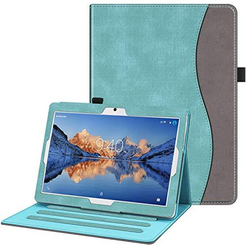 Fintie Multi-Winkel Hülle für TOSCiDO 10.1 W109/K108/X104, Qimaoo 10.1, Dragon Touch K10, TYD 10.1, ZONKO 3G, ACEPAD A121/A140/A101, YUNTAB K107, Padgene,AOYODKG/JANWIL/Lnmbbs 10,1 Tablet, Türkis