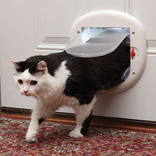 PetSafe Porte intérieure et extérieure pour Chat – Verrouillage à 4 Voies, Big Cat ou Microchip – pour Chats jusqu'à 15 ou 25 LB
