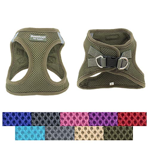 Downtown Pet Supply No Pull, Step in Adjustable Dog Harness with Padded Vest, Easy to Put on Small, Medium and Large Dogs (Hunter Green, S)