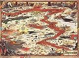 Dungeons & Dragons: Baldurs Gate: Descent Into Avernus - Avernus Map (23 x 15 in)