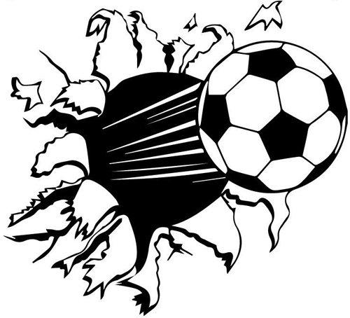 budhasuite® Vinilo Decorativo Balón Futbol.(67x60cm Aprox.) Color Negro.