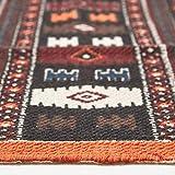 Homescapes Kelim-Teppich, handgewebt aus Baumwolle, 70 x 120 cm, bunter Baumwollteppich mit geometrischem Muster und Fransen - 4