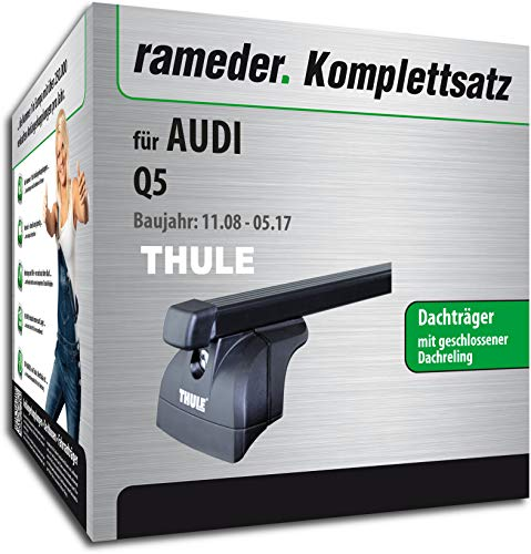 rameder Juego completo, Baca Square Bar para Audi Q5(115988–07534–1)