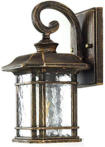 Beautiful Home Decoration lampen Retro in de vrije wandlamp, jaargang E27 zwart gouden kroonluchter buitenwaterdicht IP44 glaskleur wandlamp tuinlamp balkon Villa terras entreeverlichting