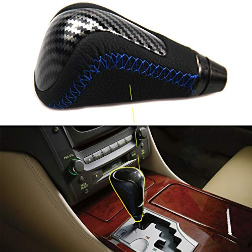 F-Sport Leather Carbon Fiber Shift Knob for Lexus 2006-2013 IS250 IS350 ISC ATM Automatic Gear Shifter Knob 2006-2011 GS300 GS350 GS430 GS460 Replace PTR51-53080