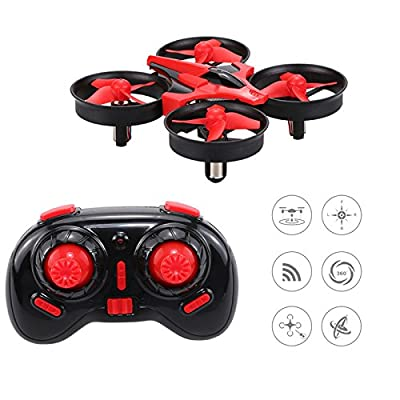 DW1 Mini Quadcopter Drone for kids, 3D flip UFO Design Headless Mode Mini Drone toy, RC Quadcopter with Portable Transport Case