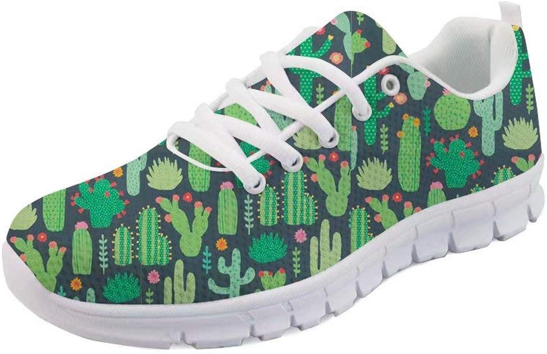 SANNOVO Women Mesh Running Lightweight Lace up Flats Walking Sneakers