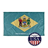 Vispronet - Delaware State Flag - 3ft x 5ft Knitted Polyester, State Flag Collection, Made in The USA (Flag Only)