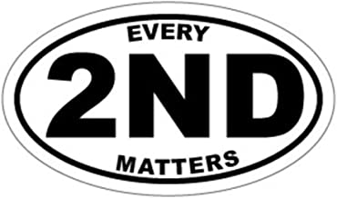 Keen Every 2nd Matters Euro Circle Decals(Two Pack!!!)| Molon Labe Gun Rights|Printed Decal| 2-4 X 2 in Decals|KCD472