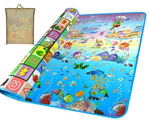 Gutsbox Baby Kinderteppich Spielteppich Spielmatte Kinder Puzzlematte Baby-kriechende Auflage Crawl Junge kinderzimmer Spielmatte Kinderzimmerteppich Picknickdecke (Ocean, 180 x 200 cm)