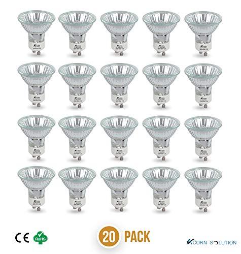 Acorn GU10, 50 W, Halogen-Reflektor, Leuchtmittel, warmweiß 2700 Kelvin,GU10 50W -20 Pack